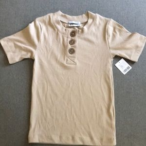 Urban Outfitters camel ribbed t-shirt.